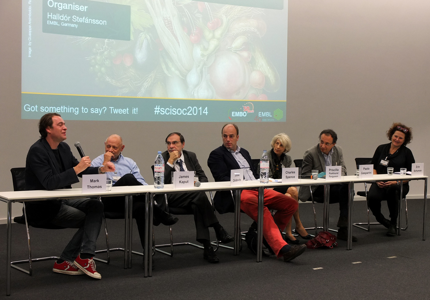 Panel discussion with the first day speakers at the Science and Society Conference